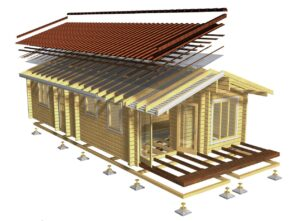 3D view of Log cabin