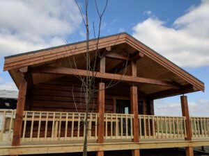 Handmade Log Cabin Outside view