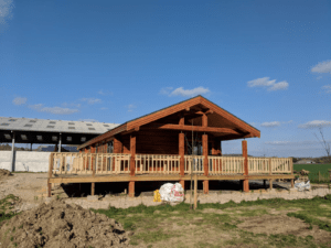 Log Cabin Home with Large Decking
