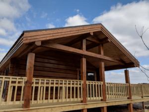 Handmade Log Cabin Outside side view
