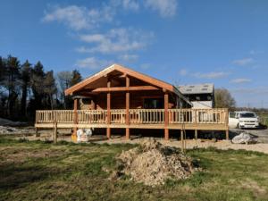 Handmade Log Cabin Outside view
