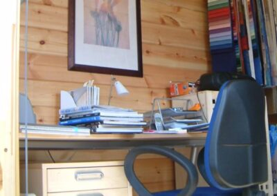 Small Office in Log Cabin
