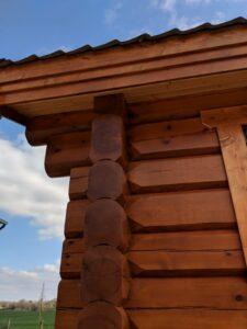 Handmade Log Cabin Outside