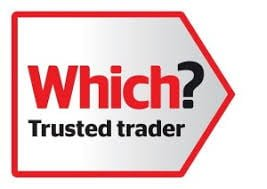 White Trusted Trader Logo